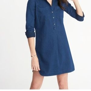 Old Navy Long Sleeve Denim Dress S